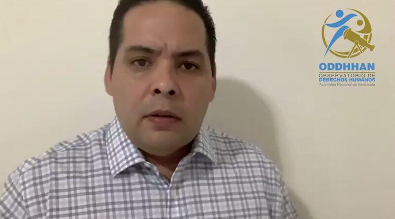 Diputado Sergio Vergara denuncia ante el peligro que corren los Presos Políticos